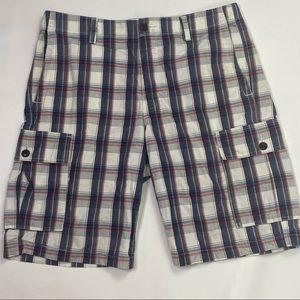 Dockers   Men's Plaid Cargo Shorts
